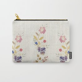 Pressed Flowers by Kathy Morton Stanion Carry-All Pouch