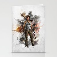 tomb raider Stationery Cards featuring Tomb Raider Reborn... by 187designz