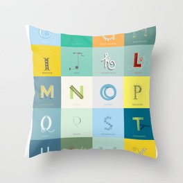 Sustainability Alphabet Throw Pillow