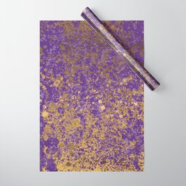 Purple and Gold Patina Design Wrapping Paper