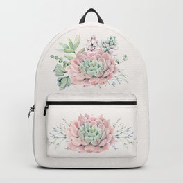 Perfect Pink Succulent Backpack