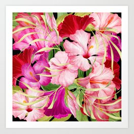 Tropical Power Flowers Art Print
