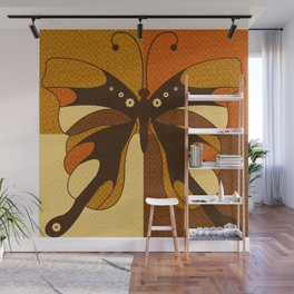 RETRO BUTTERFLY Wall Mural