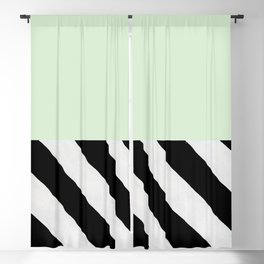 PARALLEL_LINES_GREEN_MINT Blackout Curtain