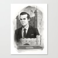 moriarty Canvas Prints featuring Moriarty by RileyStark