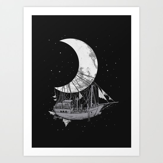 Moon Ship Art Print