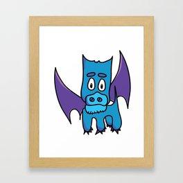 Xavier the PuppyDragon Framed Art Print