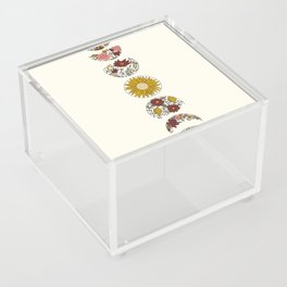 Floral Phases of the Moon Acrylic Box