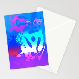 Music Circle Art Stationery Cards