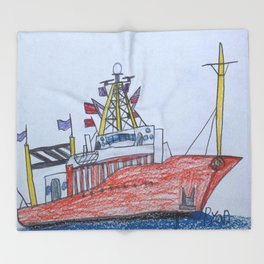 Ship Ahoy! Throw Blanket