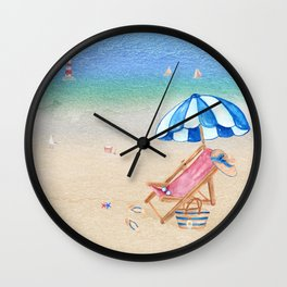 Beach Day Wall Clock