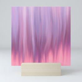 Modern pink lavender lilac watercolor brushstrokes Mini Art Print
