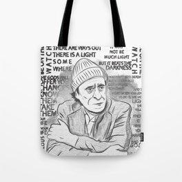 "Charles Bukowski ""The Laughing Heart"" Illustration Tote Bag"