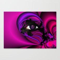 Pink and Purple Fractal Eye Canvas Print