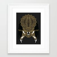 predator Framed Art Prints featuring Predator by Nathan Owens