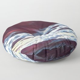 Dreaming mountains Floor Pillow