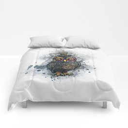 Steampunk Owl Comforters