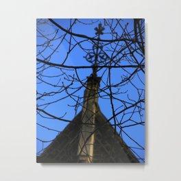 Branches & Steeple Metal Print