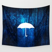 umbrella Wall Tapestries featuring umbrella by Darthdaloon