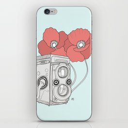 poppy twin lens iPhone Skin