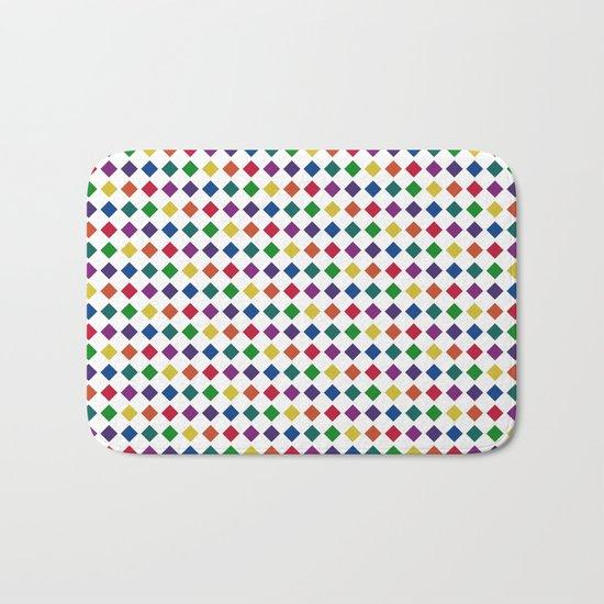 Colorful Seamless Rectangular Geometric Pattern Bath Mat
