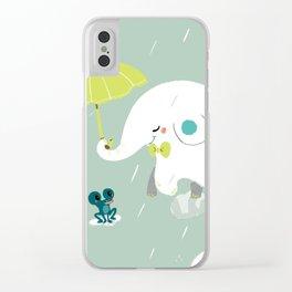 Rainy Elephant Clear iPhone Case