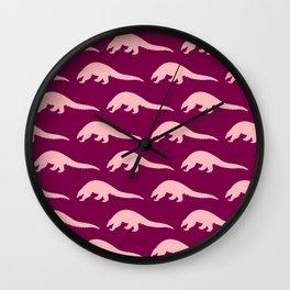 Pink Pangolins Wall Clock