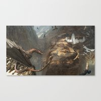 smaug Canvas Prints featuring Smaug by Hugh Ebdy