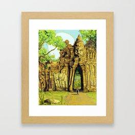 Threshold Guardian - Mythic Fantasy Framed Art Print