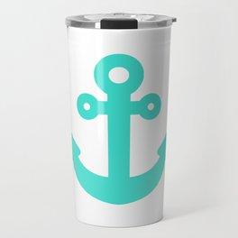 Whimsical Turquoise Anchor Travel Mug