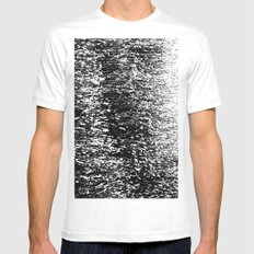 Reed waves Mens Fitted Tee MEDIUM White