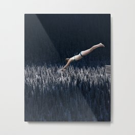 JUMP INTO IT... Metal Print