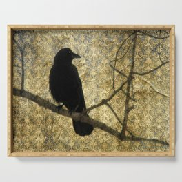 Crow Of Damask Serving Tray