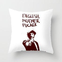 Pulp Fiction Samuel L Jackson English Motherfucker Do You Speak It? Throw Pillow