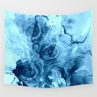 roses Wall Tapestries featuring roses underwater by clemm