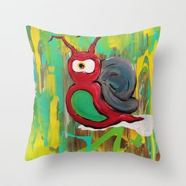 Life at a Snails Pace Throw Pillow