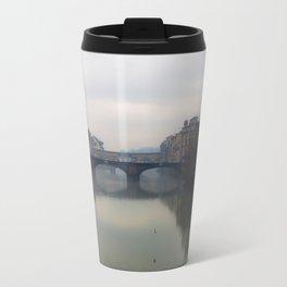 Bridge Gap Over Arno Travel Mug