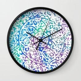 Heart Flower Blue Wall Clock