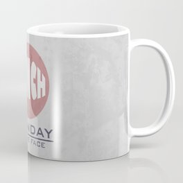 Punch Monday in the face - Red, Blue & Gray Coffee Mug