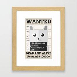 Schrödingers Cat Framed Art Print