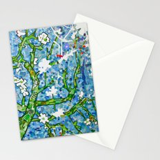 van gogh's almond tree Stationery Cards