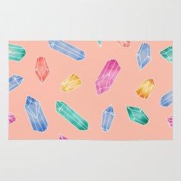 Crystals pattern - Peach orange Rug