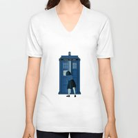 narnia V-neck T-shirts featuring A Magical Box [Doctor Who, Narnia] by Ruwah