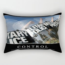 Control: Inspirational Quote and Motivational Poster Rectangular Pillow
