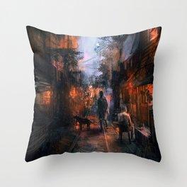 Barrio in the SE Throw Pillow