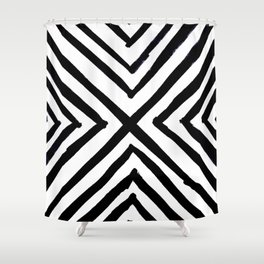 Angled Stripes Shower Curtain
