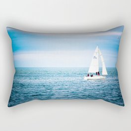 Howth sailboat Rectangular Pillow
