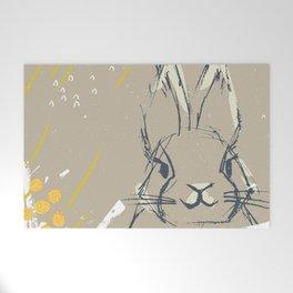 Bunny Portrait M+M Latte by Friztin Welcome Mat