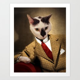 Boo conquers Hollywood - Cat Portrait Art Print