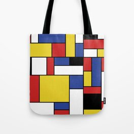 Mondrian Geometric Art Tote Bag